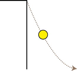 Falling ball off cliff 2